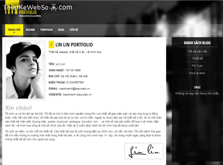 Thiết kế website cá nhân tại quận 11