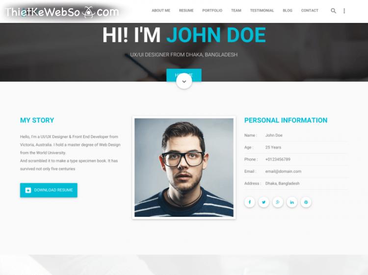 Thiết kế website cá nhân tại quận Tân Phú
