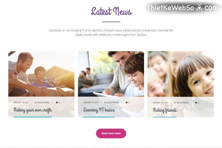 Tại sao trường mần non nên có website riêng