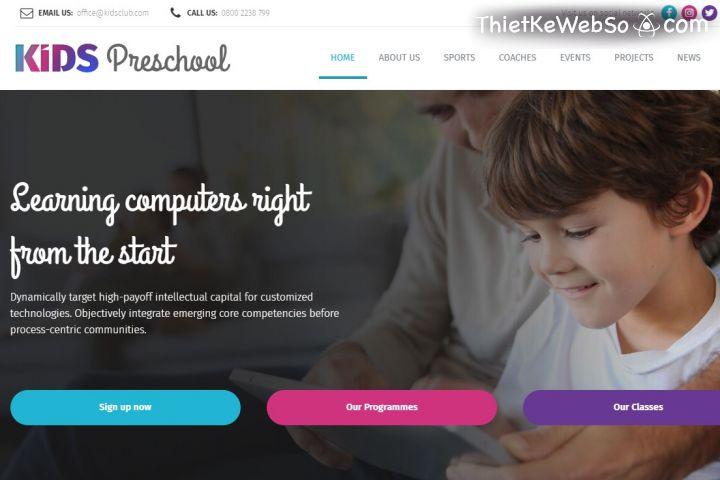 Thiết kế website cho trường mẫu giáo