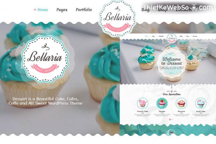 Thiết kế website cho tiệm bánh