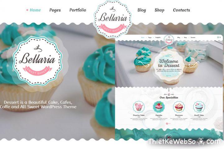 Thiết kế website cho tiệm bánh tại quận Tân Phú