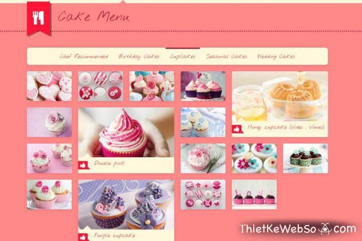Thiết kế website cho tiệm bánh tại quận Thủ Đức