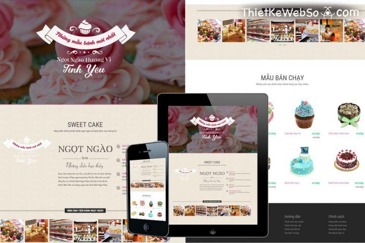 Thiết kế website cho tiệm bánh tại huyện Cần Giờ