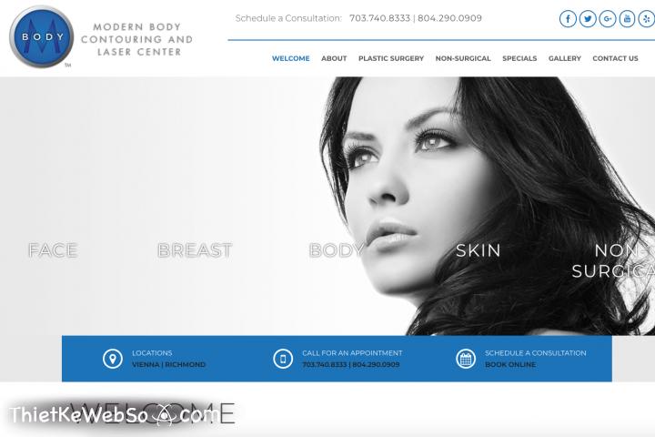Thiết kế website làm đẹp chuẩn SEO