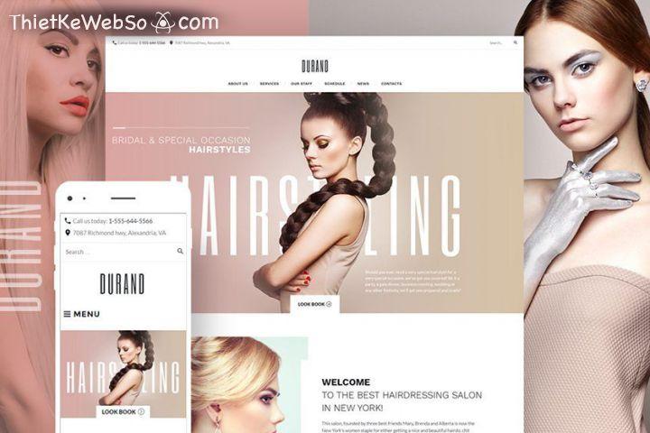 Thiết kế website làm đẹp chuyên nghiệp