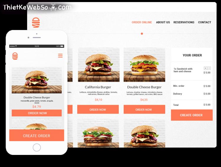 Tại sao nên thiết kế website đặt món online?