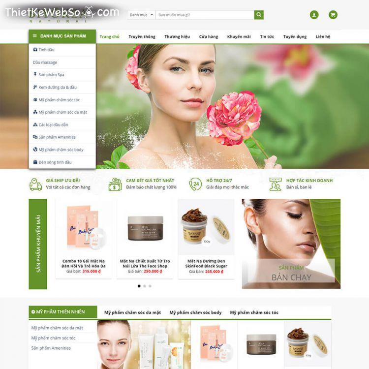 Những lưu ý khi thiết kế web mỹ phẩm