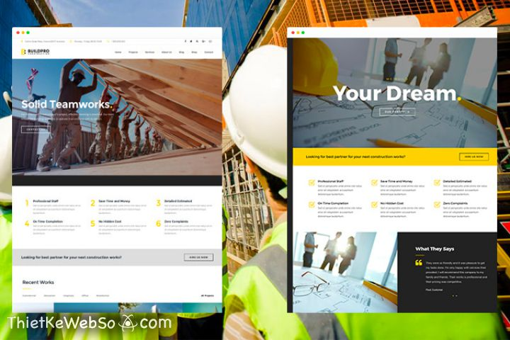 Thiết kế web vật liệu xây dựng tại TP HCM