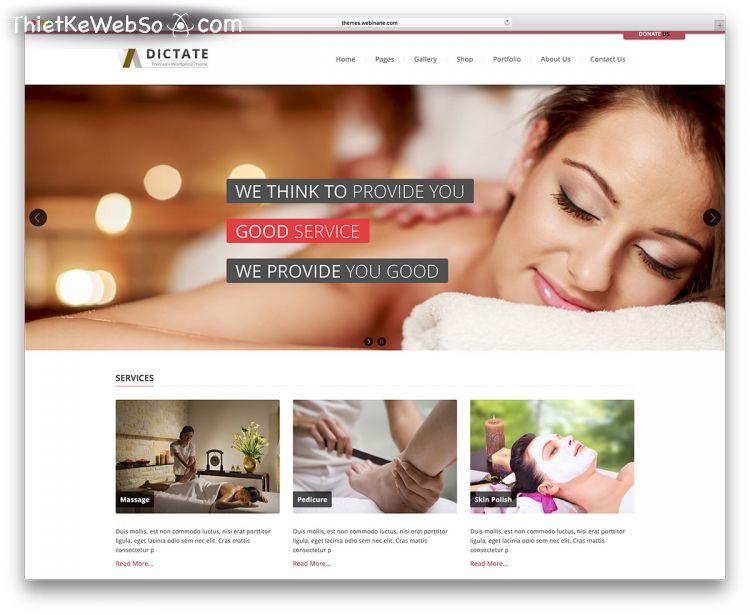 Thiết kế web Spa chuyên nghiệp quận 12