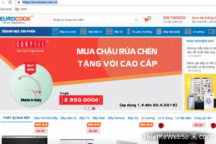 Dịch vụ thiết kế website bán hàng giá rẻ TP HCM