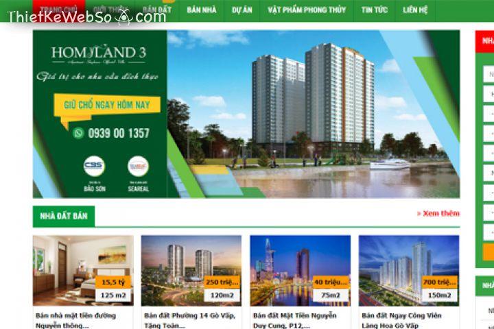 Dịch vụ thiết kế website giới thiệu dự án bất động sản
