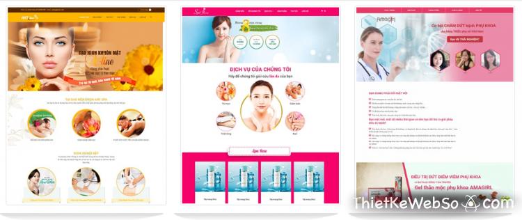 Dịch vụ thiết kế web Spa chuyên nghiệp
