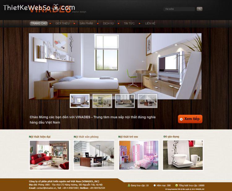 Công ty thiết kế website nội thất đẹp