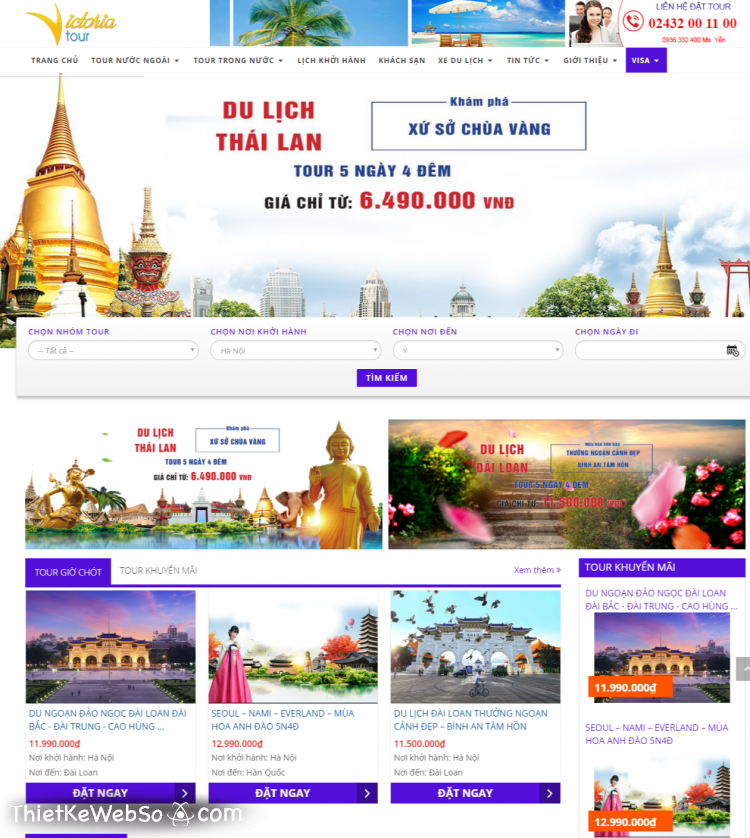 Những tính năng cần có khi thiết kế website du lịch