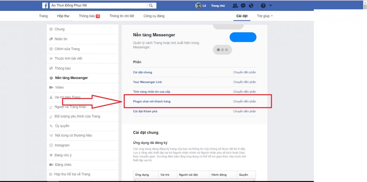 Tích hợp Facebook Messenger vào website